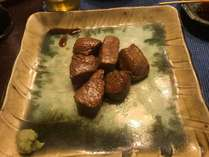 信州牛のサイコロステーキ!