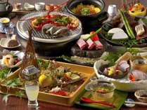 伊勢海老・鮑・金目鯛・静岡ブランドのふじやま和牛と高級素材が愉しめる創作料理