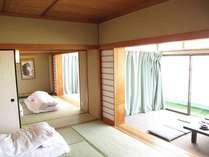 客室一例 和室です。ご人数様に合わせたお部屋をご用意いたします。