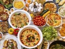【朝食バイキング】20種類以上のお料理をご用意♪