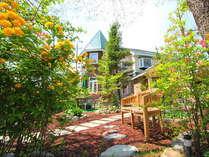 百花繚乱!ヤマブキ、ツツジ咲く木々にあふれた当館