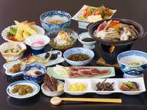 【スタンダード】季節の料理長おすすめのスタンダードプラン料理の一例(鴨胸肉の叩きを陶板焼きで)