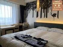 【カップル・ご夫婦におすすめ】 シングルルームに広々160cmのダブルベット!! 2名でステイ(素泊)