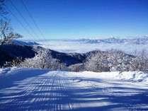 野沢温泉スキー場。天候によってはこーんな雲海も♪