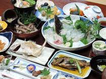 *【夕食一例】牛窓で獲れる旬の味覚をお腹いっぱいお召し上がり下さい