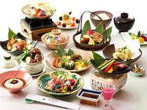 厳選した食材のみを使用し贅を尽くした豪華な金沢懐石フルコースをお楽しみ下さい(お料理一例)