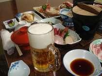 ビジネスプランには、仕事後に嬉しい生ビール付き!ついついお箸が進みます。