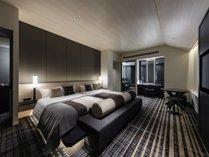 <最上階>エグゼクティブツイン●広さ:60平米 ●ベッド:幅140cm × 長さ196cm 2台