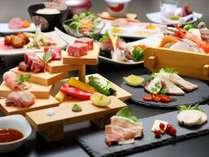 薩摩の黒を極める薩摩三大黒肉のかいだんと海鮮料理×ハーフビュッフェ