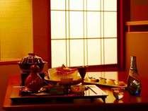 【食事】皆美でゆっくりと美味しいお食事を