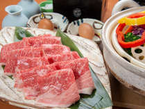 *【夕食一例/松阪牛すき焼き(2人前)】