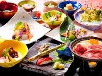 春の『旬菜会席』の一例