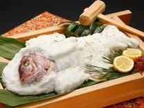追加料理『鯛の塩釜焼き』 花乃丸名物!宴会やお祝いのお席におすすめの逸品です♪(8000円税別)