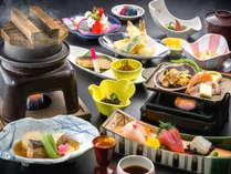 『花遊膳(はなゆうぜん)』新鮮な海の幸も楽しめる会席料理。四季折々のお料理をお楽しみ下さい。