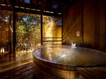 貸切露天風呂の一例 天然温泉の貸切風呂で贅沢なひとときを。(3000円税別/40分 ※加水・加温あり、循環式)