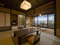 【雪タイプ(81平米)のお部屋/1階】この部屋のみ2階に内風呂と露天風呂があります。