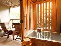 水花の庄「洋室ツイン」客室の半露天風呂。※温泉ではございません