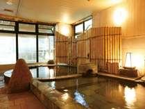 【新館:小涌谷温泉/笹の湯】石切風呂(あつ湯/ぬる湯)で多彩な湯を愉しめる。
