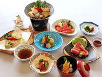 ≪3月~5月≫稚鮎の天婦羅・蛤と浅利のスープ鍋など旬の味覚を楽しむスタンダード会席「はまゆう会席」