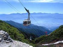 日本で最初の山岳ロープウェイで山頂駅は日本最高所!駒ヶ岳ロープウェイ