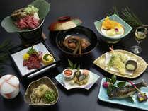 冬の会席料理イメージ。写真は12月~2月の会席料理です。信州食材を使った料理を召し上がって下さい