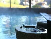 大浴場の温泉湯口