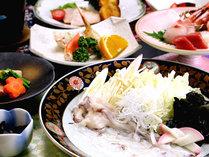 【スタンダード】人気No1!日本海近海の新鮮な海の幸☆新鮮な蛸は海鮮しゃぶしゃぶで♪