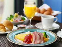 【アメリカンブレックファスト】白河産かぐや媛卵を使用した、クチコミ評価も高い自慢のホテル朝食