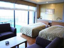 【洋室】ビジネスからレジャーまで。ふかふかのベッドでグッスリお休み下さい♪(客室一例)