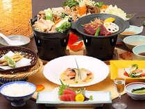 冬から早春◎信州の美味!「煌びやか会席」と「信州鶏鍋&デザートバイキング」