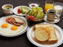 【朝食の一例[洋定食]】人気の朝食は和洋選べます