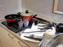 *全部屋共通/充実のキッチン用品をお部屋にご用意しております!