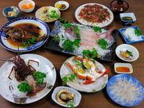 獲れたてピチピチ12550円コース(10~3月限定)料理例
