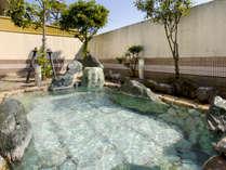 ≪露天風呂≫皆生温泉の名湯を引いた源泉かけ流しの温泉