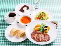 【la porteプラン】ステーキコース(一例)