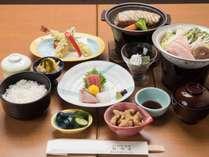 *【ご夕食一例】当館のスタンダード料理です。三崎の新鮮な味覚に舌鼓を。