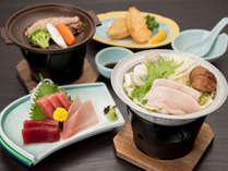 *【ご夕食一例】当館自慢の鮪づくし料理。新鮮な三崎のまぐろをご堪能ください!