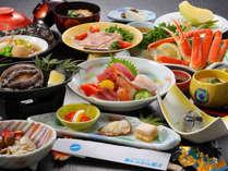 【鮑の踊り焼が付いた海鮮和食御膳(一例・約10品)】