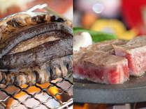 一番人気は、A4ランクの黒毛和牛「村上牛ステーキ」!国産天然「あわびの踊り焼き」もオススメ!