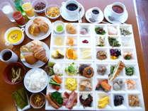 50種類以上の和洋バイキング朝食♪これだけの種類が食べ放題!!