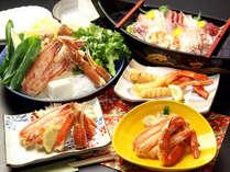 平日限定!カニ天ぷら付カニスキコース 魚介の船盛または大皿盛もご一緒に♪
