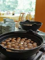 朝食一例/山形の名物「玉こんにゃく」