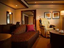 ◆【ジュニアスイート】「八右衛門の湯」にも近く、車いすの方でも安心してお泊りいただけます。
