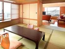 ◆【特別室】和室2部屋と応接間のある開放的な客室です。特別な記念日などでのご利用におすすめです。