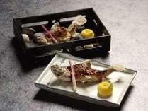 ■岩魚塩焼きと岩魚田楽焼き