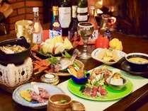 新鮮な飛騨の食材をたっぷり使用し一から作り上げた和洋折衷の創作料理になります。