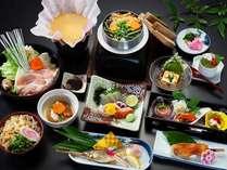 【リニューアル記念☆特別価格】祖谷蕎麦・牡丹鍋・季節のお刺身★ヴォリュームたっぷり☆せせらぎ会席