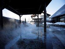 冬ならではの「雪見風呂」をお楽しみ下さい