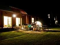 【バーベキュー】レイクサイドヴィラ前庭ではご夕食の代わりにバーベキューを楽しむ事も♪