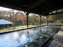 秋は紅葉露天も楽しめる♪広々とした「ガーデンスパ」露天風呂